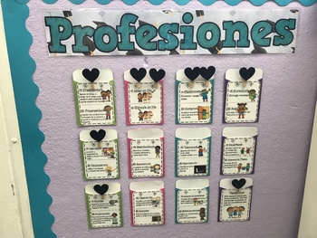 Spanish Class Jobs (profesiones)- editable