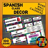 Spanish Classroom Decor, Classroom Labels, Hispanic Heritage, Spanish Calendar