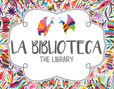 Spanish Class Library Poster - Otomi Theme