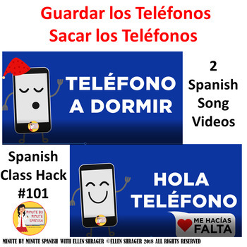 101 Spanish Class Musical Video - Put Away Your Phones CI 90% TL TCI