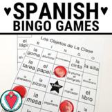 Spanish Class Objects BINGO - Los Útiles Escolares