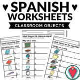 Spanish Class Objects Worksheets - Los Útiles Escolares