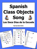 Spanish Class Objects and Ordinal Numbers Song The Twelve Days of School