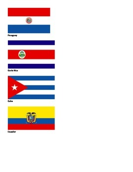 Spanish Class Participation Flags