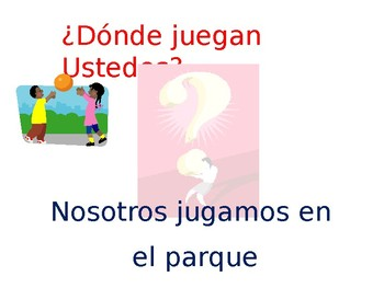 Spanish- Class Practice Answering Questions with Interrogatives