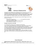 Spanish Class Restaurant Skit: Instructions and Rubric
