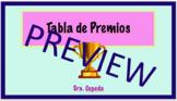 Spanish Class Rewards System