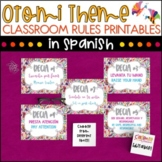 Spanish Class Rules - Otomi Theme