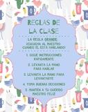 Spanish Class Rules Poster - Llama Cactus Theme