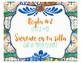 Spanish Class Rules - Talavera Tile Theme