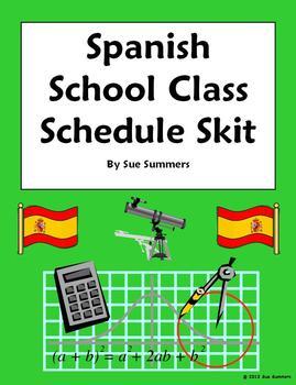 Spanish Class Schedule Phone Conversation Skit