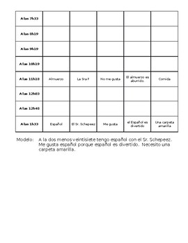 Spanish Class Schedule Project