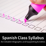 Spanish Class Syllabus - An Editable Infographic and Suppo