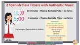 Spanish Class Timers with Bachata Music - Ten Minutes and