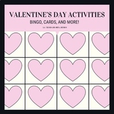 Spanish Class Valentine's Day Activities: Bingo, Cards and more!
