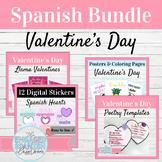 Spanish Class Valentine's Day Activity Bundle