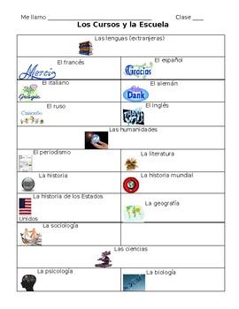 Spanish Class Vocabulary Note Sheet