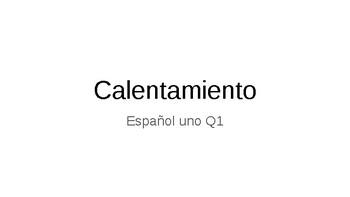 Spanish Class Warm-Ups Template