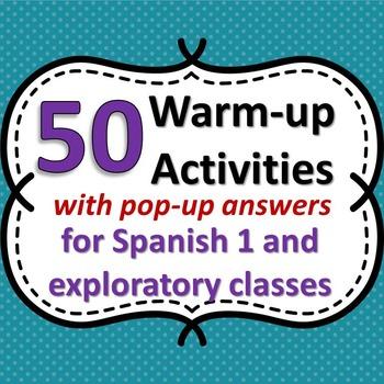 Spanish Class Warm-ups - 50 Starter Activities for Beginner Classes