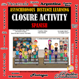 Spanish Year-End Closure Activity - Memory Book -Goodbye S