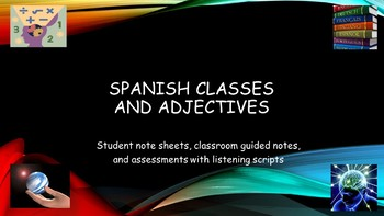 Spanish Classes Vocabulary and Assessment Bundle