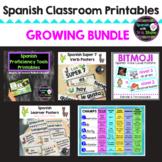 Spanish Classroom Bulletin Board Poster Printables GROWING BUNDLE