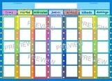 Spanish Classroom Calendar