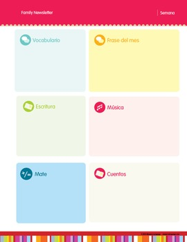 Spanish Classroom Calendar, Newsletter Templates & Lables