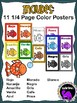 Spanish Classroom Color Posters - Rainbow Fish Theme