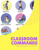Spanish Classroom Commands Mini Lesson Plan and Printable Posters