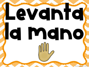 Spanish Classroom Commands Posters