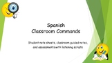 Spanish Classroom Commands Vocabulary and Assessment Bundle