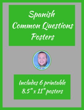 Spanish Classroom Common Questions Posters