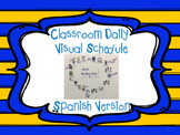 Spanish Classroom Daily Visual Schedule (Agenda Icons)