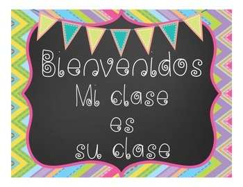 Spanish Classroom Decor Poster - Bienvenidos - Welcome Decoration