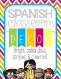 Spanish Classroom Decor Set