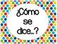 Spanish Classroom Decor, Word Wall