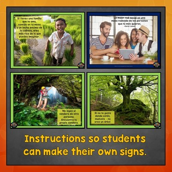Spanish Classroom Decorations, Inspirational Signs, Posters