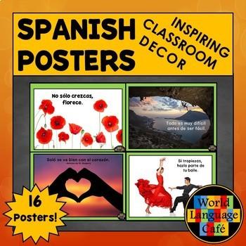 Spanish Posters, Spanish Classroom Decor, Spanish Signs