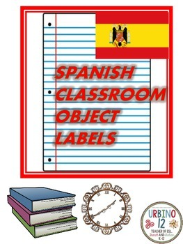 Spanish Classroom Display: Classroom Object Labels