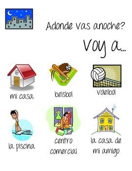 Spanish Classroom Door Greeting Posters- estar, duele, ir