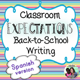 Back-to-school: Spanish Classroom Expectations Writing Mini-Books