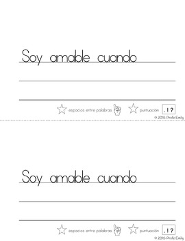 Back-to-school: Spanish Classroom Expectations Writing Mini-Books