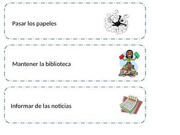 Spanish Classroom Job Labels
