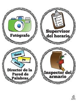 Spanish Classroom Jobs, Editable