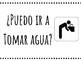 Spanish Classroom Key Questions Posters (bano, agua, enfermeria)
