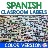 Spanish Classroom Labels RAINBOW (55+ labels!)