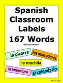 Spanish Classroom Labels 167 Different Words