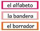 Spanish Classroom Labels- editable!