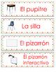 Spanish Classroom Labels Polka Dots